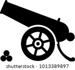 cannon icon  weapon icon  old... | Shutterstock .eps vector #1013389897