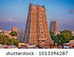 hindu meenakshi amman temple   Shutterstock . vector #1013396287