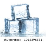 ice cubes on white background | Shutterstock . vector #1013396881