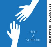 hands reaching for help ... | Shutterstock .eps vector #1013396911