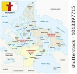 nunavut administrative and... | Shutterstock .eps vector #1013397715