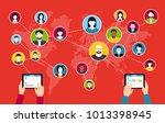 social media background  ...   Shutterstock .eps vector #1013398945