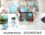 automation concept as an... | Shutterstock . vector #1013402365