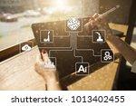 microchip  cpu  processor ... | Shutterstock . vector #1013402455