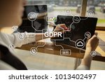 gdpr. data protection... | Shutterstock . vector #1013402497