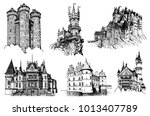 graphical set of medieval... | Shutterstock .eps vector #1013407789