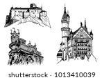 graphical set of medieval... | Shutterstock .eps vector #1013410039