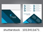 square flyer template. simple... | Shutterstock .eps vector #1013411671