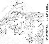 circuit board  technology...   Shutterstock .eps vector #1013411869