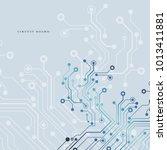 circuit board  technology...   Shutterstock .eps vector #1013411881