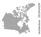 pixel mosaic map of canada on... | Shutterstock .eps vector #1013414239