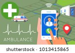 emergency call concept... | Shutterstock .eps vector #1013415865