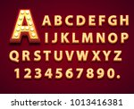 font lamp symbol  gold letter... | Shutterstock .eps vector #1013416381