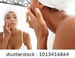 portrait view of beautiful... | Shutterstock . vector #1013416864