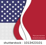 abstract image of the american... | Shutterstock .eps vector #1013423101