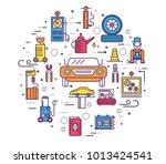 auto service circle concept.... | Shutterstock .eps vector #1013424541