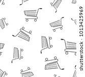 shopping cart seamless pattern... | Shutterstock .eps vector #1013425969