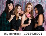 slumber party night. four... | Shutterstock . vector #1013428021