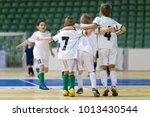 indoor football soccer match... | Shutterstock . vector #1013430544