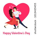 happy valentines day poster... | Shutterstock .eps vector #1013435455