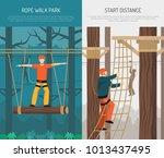 rope walking park activities... | Shutterstock .eps vector #1013437495