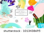 abstract universal art web... | Shutterstock .eps vector #1013438695