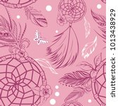vector of seamless pattern with ... | Shutterstock .eps vector #1013438929