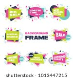 set of colorful abstract chat... | Shutterstock .eps vector #1013447215