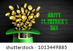 happy saint patrick's day... | Shutterstock .eps vector #1013449885