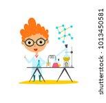 youngest scientist. baby kid... | Shutterstock .eps vector #1013450581