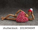 man in love with heart | Shutterstock . vector #1013454049
