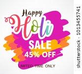 holi design  vector... | Shutterstock .eps vector #1013455741