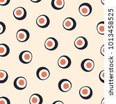 sushi seamless pattern. vector...   Shutterstock .eps vector #1013458525