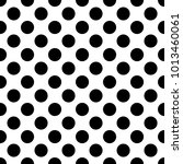 circle  dotted seamless pattern | Shutterstock .eps vector #1013460061