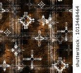 seamless pattern ethnic design. ... | Shutterstock . vector #1013468464
