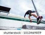 jogging up the atmosphere on... | Shutterstock . vector #1013469859