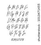 handwritten brush style modern... | Shutterstock . vector #1013471455