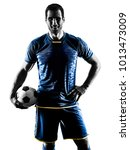 one caucasian soccer player man ... | Shutterstock . vector #1013473009