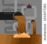 underground sewerage system... | Shutterstock .eps vector #1013477281