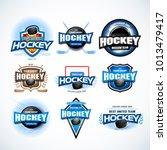 hockey sport team logotype...   Shutterstock .eps vector #1013479417