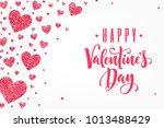 glitter red hearts horizontal...   Shutterstock .eps vector #1013488429