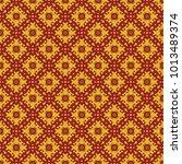 seamless vintage pattern.... | Shutterstock .eps vector #1013489374