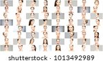 collage of various spa female... | Shutterstock . vector #1013492989