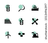 wheat icons. vector collection...