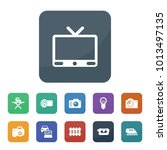 electronics icons. vector... | Shutterstock .eps vector #1013497135