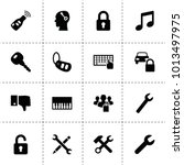 key icons. vector collection...