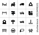 Traffic Icons. Vector...