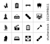 board icons. vector collection...