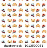 vertically seamless pattern... | Shutterstock .eps vector #1013500081