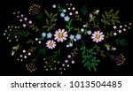 embroidery trend floral pattern ... | Shutterstock .eps vector #1013504485